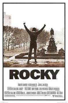 Rocky posters: This black and white Rocky poster features cinema art from the original and iconic 1976 Rocky film. Rocky was written by and starred Silvester Stalone, as Rocky Balboa. This Rocky poster features a black and white shot od Stallone as Rocky Classic Movie Posters, Movie Poster Art, Classic Films, Vintage Movie Posters, Sylvester Stallone, Kino Movie, Rocky Poster, Rocky Balboa Poster, Rocky Balboa Movie