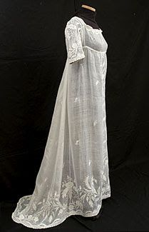 Regency dress in the neoclassical style