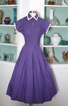 1940s Purple Dress / Vintage 40s 50s Betty by SavvySpinsterVintage