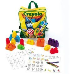 Crayola Kids at Work 40-Piece Learn 'n Play Backpack