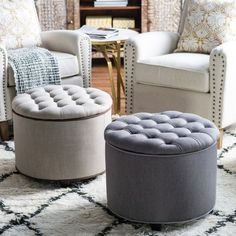 Puff Ottoman  Softness Style Storage has never been so Flawless! Since the beginning of the year many girls were looking for our Adorable guide and it is finally got released. Now It Is Time To Take Action! See how... #interiors #homedecor #interiordesign #homedecortips Easy Home Decor, Cheap Home Decor, Storage Footstool, European Home Decor, Tufted Ottoman, Eclectic Decor, 70s Decor, Traditional Decor, Contemporary Decor