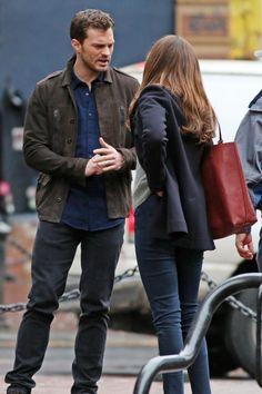 FSD   Dakota Johnson  & Jaime Dornan    On set