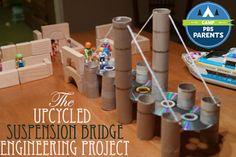 Reuse tp & paper towel tubes to build a bridge