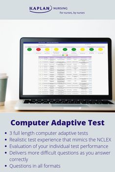 Check out our Computer Adaptive Test for full length NCLEX tests. Nclex Practice Questions, Kaplan Nursing, Nclex Rn, Nursing Career, Dialysis, Test Prep, Nursing Students, How To Become, This Or That Questions