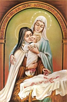 Blessed Virgin Mary Apparitions   Blessed Virgin Mary :: St Therese and the apparition of Mother and ...