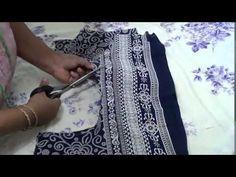 Two Piece Kurti (Cutting and Stitching)