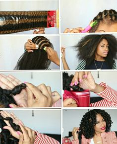 "Crochet braids using marley hair. By YouTube blogger ""The Chic Natural"""