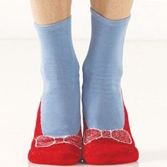 """Ruby Red Slipper Socks..just click your heels..and remember to say """"There's no place like home"""" $9.95"""