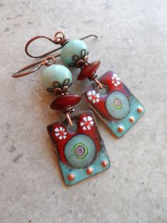 Paradise ... Artisan-Made Enameled Copper Lampwork by juliethelen