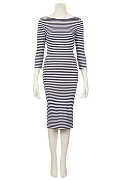 Breton Stripe Midi Dress from Topshop