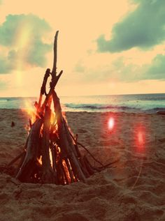 Kick back and relax with friends around a bonfire on the beach. Don't forget the s'mores!