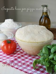 Impasto base per pizza morbido