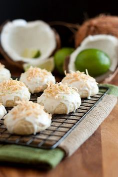 coconut lime ricotta cookies. the interesting ingredients make me want to give it a try.