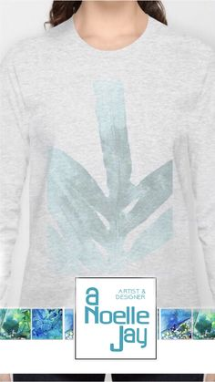"""Check out this Long Sleeve T-shirt called """"Ice Blue Fern in Summer White"""" by ANoelleJay (@anoellejay) @society6 fashion and decor art for your spring break travels! https://society6.com/product/ice-blue-fern-in-summer-white_long-sleeve-tshirt#s6-7139618p39a48v354a49v360a50v367"""