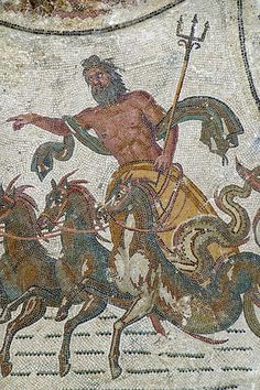 Neptune on Chariot with Horses - Bardo Museum - Tunis