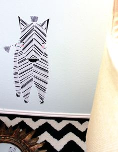 Zebra Reusable Fabric Wall Decal
