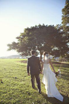 KAREN WILLIS HOLMES - Real Bride - Wedding gown - Adele with train