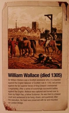 Sir William Wallace I think he used to hang aboot in paisley Scotland History, Glasgow Scotland, Edinburgh, William Wallace, Celtic Warriors, Templer, Braveheart, England And Scotland, Picts