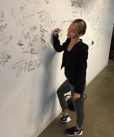 Nicole Richie stopped by to sign our wall! Note the right heel lift — that's an expert-level move.