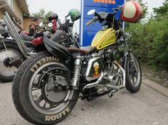 Sportster from Joutsa Chopper Old Scool, Custom Motorcycles, Chopper, Motorbikes, Tokyo, Biker, Arms, Racing, Vehicles