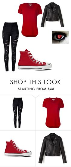 """""""Demon"""" by awseome-girl-5953 ❤ liked on Polyvore featuring MICHAEL Michael Kors and Converse"""