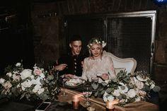 Halle + Nick's Earthy California wedding Photographer: Kindred Collective Karen Willis Holmes wedding dress modern wedding bridal lace cro