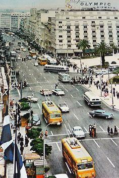 greece ∘ athens ∘ Panepistimiou street in the Greece Pictures, Old Pictures, Old Photos, My Athens, Athens Greece, Places To Travel, Places To Visit, Greek Culture, Acropolis