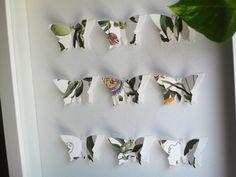 3D butterflies / wall art / collage/ gift idea / present / wall decor / home decor/ 3D wall art / love / wedding by GosiaandHelena on Etsy https://www.etsy.com/listing/130449820/3d-butterflies-wall-art-collage-gift