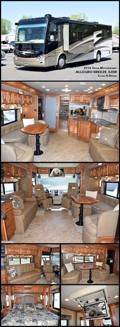 Immerse yourself in this 2016 Tiffin Motorhomes breath-taking Allegro Breeze 32BR. The smallest Class A rear engine diesel on the market, the Breeze is still every inch a luxurious coach, a guarantee that life on the go will never be short of comfortable amenities.