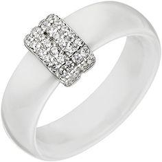 Dreambase Damen-Ring rhodiniert Silber Keramik 1 Zirkonia... https://www.amazon.de/dp/B01IO7DIB8/?m=A105NTY4TSU5OS