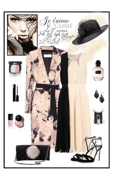 """""""Printemps de Mariage à Paris"""" by romaboots-1 ❤ liked on Polyvore featuring Philip Treacy, Dries Van Noten, Halston Heritage, Jimmy Choo, Chanel, Alexis Bittar, Alexander McQueen and Guerlain"""
