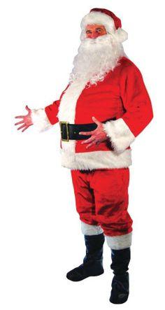 FATHER XMAS SANTA CLAUS SUPERIOR BEARD//WIG Adults Mens Fancy Dress Costume