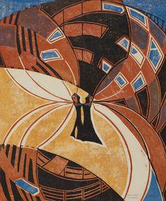 British Linocuts of the Grosvenor School - Exhibitions - Craig F. Sybil Andrews, School Exhibition, Linocut Prints, Art Prints, Ink Pen Drawings, Pottery Sculpture, London Art, Print Artist, Art Auction