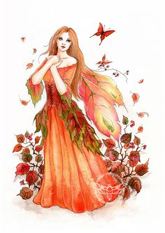 Liv by JannaFairyArt on DeviantArt * Fairy Myth Mythical Mystical Legend Elf Faerie Fae Wings Fantasy Elves Faries Sprite Nymph Pixie Faeries Hadas Enchantment Forest Whimsical Whimsy Mischievous Fantasy Cross Stitch, Cross Stitch Fairy, Autumn Fairy, Fairy Pictures, Love Fairy, Beautiful Fairies, Flower Fairies, Flower Petals, Fairy Art
