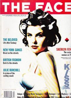 "Sherilyn Fenn on the cover of ""The Face"" magazine dec 1990....."