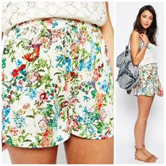 HP Brave Soul Botanical Gardens Shorts Never worn; just washed. Bought off of ASOS. Brand is Brave Soul. Runs true to size. 100% viscose. Mid-rise waist. Side pockets. Elasticized waist. Does have some excess threads on the shorts. ❌NO TRADES❌ ASOS Shorts