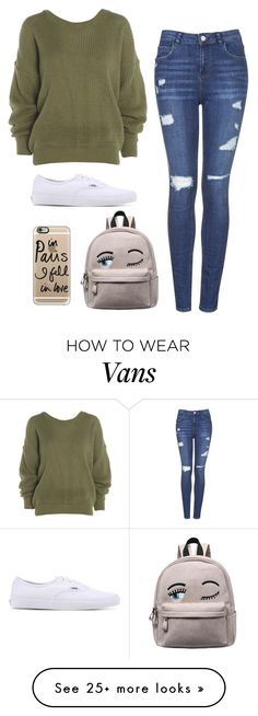 """""""Basic Bi***"""" by tiffanylechner on Polyvore featuring Topshop, Vans and Casetify"""