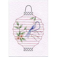 Stitching Cards Lantern