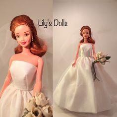 Bridal Shower Centerpieces, Bridal Shower Gifts, Bridal Gifts, Barbie Bridal, Barbie Wedding, Belle Wedding Dresses, Wedding Gowns, Original Barbie Doll, Bride Dolls