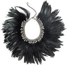 ShopStyle: Mixology Feather and Rhinestone Collar Necklace