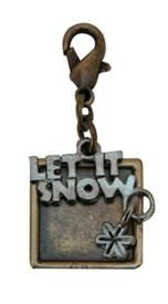 Oxidized Brass Charm with Let It Snow Theme fun on your necklace or bracelet! @classiclegacy