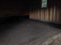 August 20, 2014 Prepped for garage floor