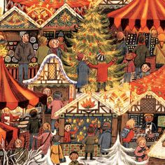 Briony May Smith-Another detail #Christmas #advent #adventcalendar #christmasmarket #illustration @woodmansternecards @johnlewisretail