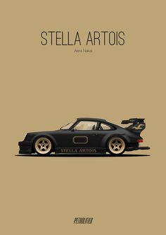 RWB rauh welt begriff porshe stella artois - #cartuningracing #racing #tuning #car #carracing
