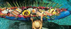 Necker Island: sushi canoe