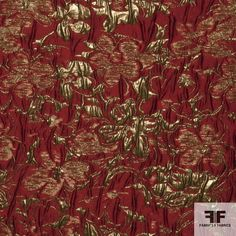 This imported metallic brocade has beautiful flowers woven into the fabric. It has a medium weight and a medium/soft drape. - See more at: https://fabrics-fabrics.com/index.php?id_product=435&controller=product#sthash.5Tp274Ib.dpuf