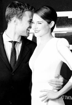 Shailene Woodley and Theo James....the fact that they're together makes me SO happy
