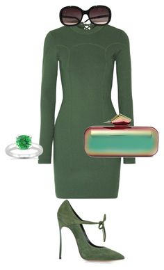 """Khaki dreams"" by mary-ann-massad on Polyvore featuring 3.1 Phillip Lim, Casadei, Chanel and Jimmy Choo"