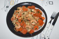 Nouilles Soba aux crevettes
