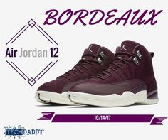 "#NewBlogPost For our #Sneakerheads , Be sure to check out our blog post on the Air Jordan Retro 12s ""Bordeaux"" Click the link below to find out what we think about of the new colorway for the 12s! They will be released on 10/14! #TechDaddy #Bordeaux #Jordan12s #Bordeaux12s"